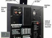 Monitor referência ativo samson studiodock 3i usb
