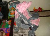 Carrinho my baby rosa c/ bebê conforto