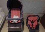 Carrinho para bebê + bebê conforto - infanti - modelo ts toscana - rosa