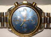 Omega cronografo aÇo e ouro com puseira aÇo ouro