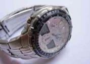 Relógio citizen promaster skyhawk serie prata aço c390