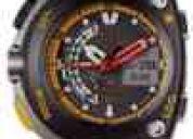 Relógio citizen meia lua pulseira borracha