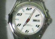 Relógio orient automático 469ss015 wr-100m branco aço
