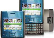 Nokia x5 azul - gsm c/ tecnologia 3g, w-fi, teclado qwerty, câmera 5.0mp c/ zoom 4x
