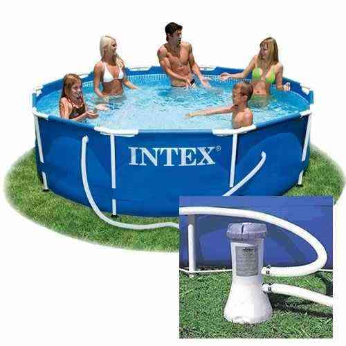 Piscina intex estrutural lt 305cm redonda bomba for Filtro piscina intex