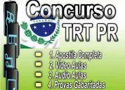 Dvd apostila concurso trt pr 2010 tribunal regional trabalho tecnico analista edital prova