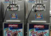 Maquina de sorvete expresso completa com bomba de ar e pre cooling