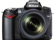 Câmera digital slr nikon d90 + lente adicional, capas, tripé e sd