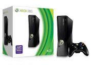 Xbox 360 slim 4gb destravado lt+1.9 + jogos + 2 controles sem fio