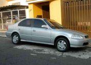 Honda civic 98/98 - ex cor prata - completo
