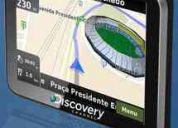 Gps aquarius discovery channel c/ tela touchscreen de 3.5 ultra slim e alerta de radares