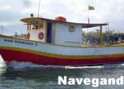 barco a  venda em bertioga