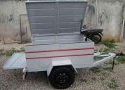 Carretinha baÚ  com adaptaÇÃo para carregar moto,fabrica em bh,entregamos em todo brasil