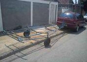 Carreta reboque de encalhe de 4m para lancha barco jet sky canoa caiaque bote inflÁvel pe