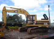 escavadeira caterpillar 322