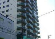 Apartamentos em praia grande, imovel 2 dormitórios frente ao mar ref 1206