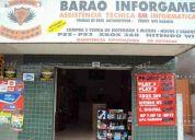 Vendo ponto comercial  loja de informatica,games e eletrÔnicos