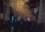 Chuva de prata para festas e eventos