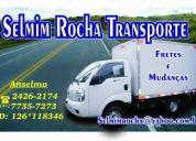 Anselmo; transporte mudanças frete eventos para empresas ou particulares