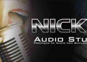 Estudio de gravação de Áudios.