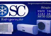 Sc refrigeração.  intalação    e manutenção   conserto