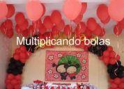 Decoração de balões  (multiplicando balões )