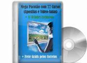 Pacotão 77 cursos com frete grátis: manutenção ps2 eletrônica lcd hd placa mãe pc notebook