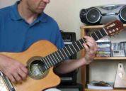Aulas em domicílio violão, guitarra e contrabaixo.