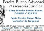 Pereira bueno advocacia e assessoria jurÍdica - advocacia de apoio no estado de sp.