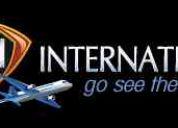 Trabalho com turismo - empresa multinacional.