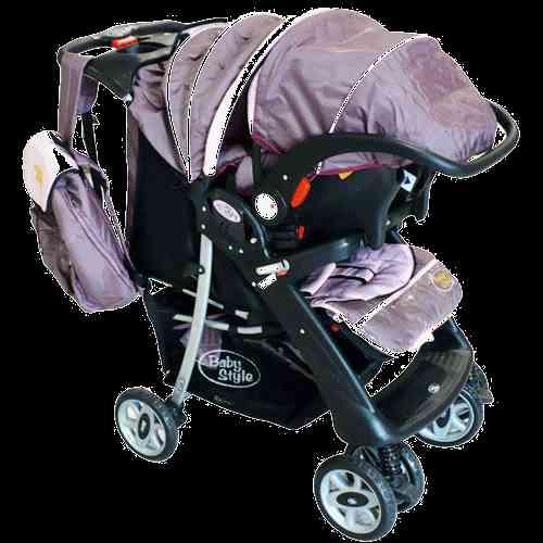 Carrinho para Bebê Travel System Luxo Rosa e Vinho 699126TS - Baby Style