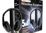 Fone ouvido s/fio wireless tv pc fm dvd mp3 player promoÇÃo rj