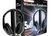 Fone ouvido s/fio wireless tv pc fm dvd mp3 player