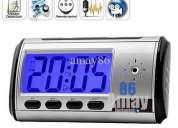 Relógio espião com detecção de movimento, alta definição hd 30fps