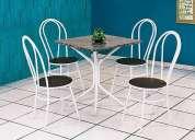 Conjunto de mesa tampo granito