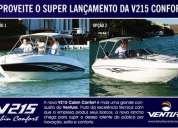 lancha ventura 215 cabin confort - zero - foxnáutica