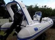 Vendo bote inflável euro flex 4,5 metros com motor 60hp + carreta, 2006 - barco inflavel