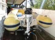 Bote sr 12 flexboat  motor 25 jhonson