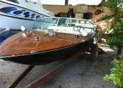 Lancha ski boat carbrasmar madeira raro clássico - ford v8
