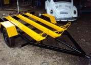 Fabrica de carretinhas em bh-carretinhas para transportar 03 motos-cores variadas