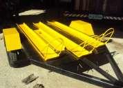 Carretinha para transporte de 03 motos com assoalho em chapa.fabrica de carretinhas em bh