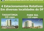 4 estacionamentos rotativos em diversas localidades do df