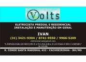 Eletricista em belo horizonte 31 8741-9550
