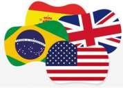 Aulas de espanhol e inglês.
