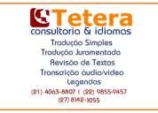 TraduÇÃo simples, juramentada, revisÃo de texto, transcriÇÃo de audio, legenda