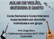 aulas de violÃo / guitarra / canto