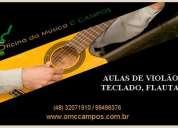 Oficina da música ccampos – aulas de violão, teclado, flauta...