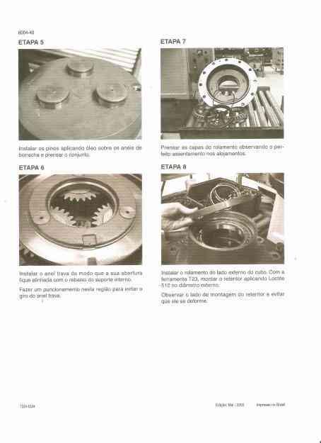 Manual de Serviço Pa-Carregadeira New Holland W-130 Em CD-ROM