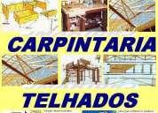Estruturas de madeira com Ênfase em carpintaria marcenaria e telhados  . ' .