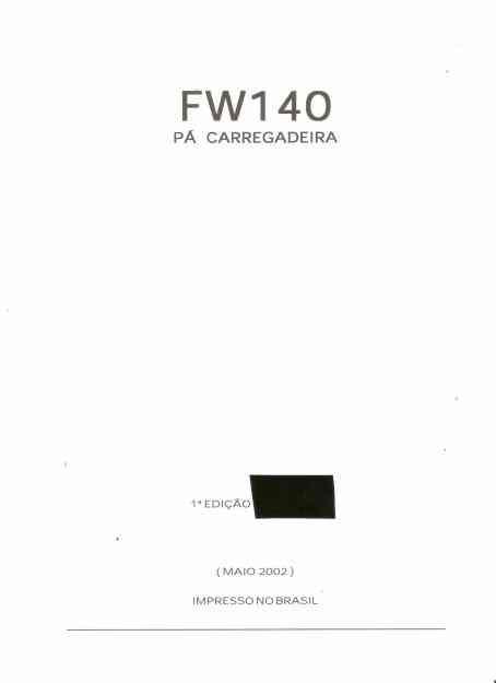 Manual de Serviço Pa-carregadeira Fiatallis FW 140
